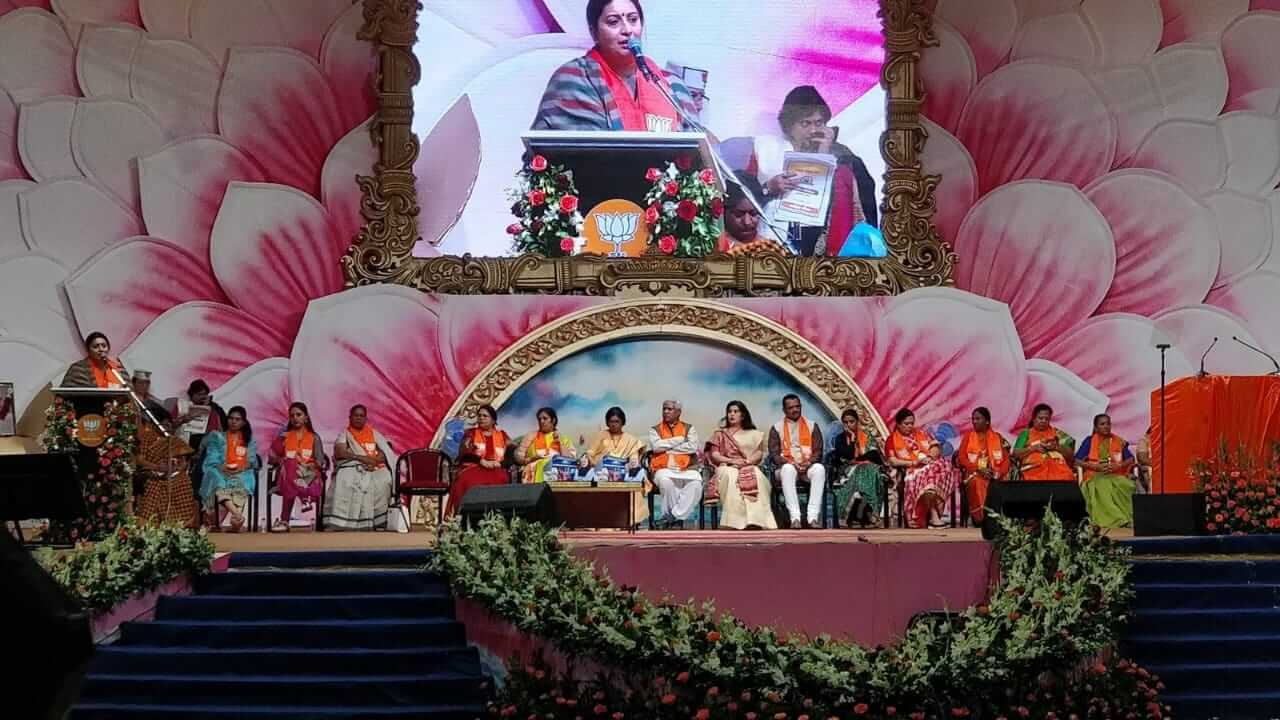 ALL INDIA BJP MAHILA SAMELAN 2018 AT TRIMANDIR, ADALAJ